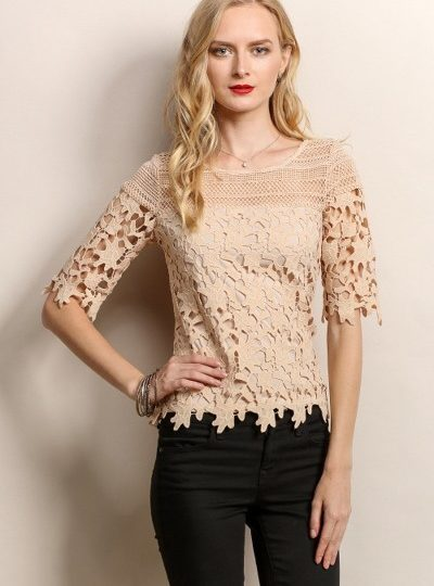 womens lace designer top beige bellevue shopping
