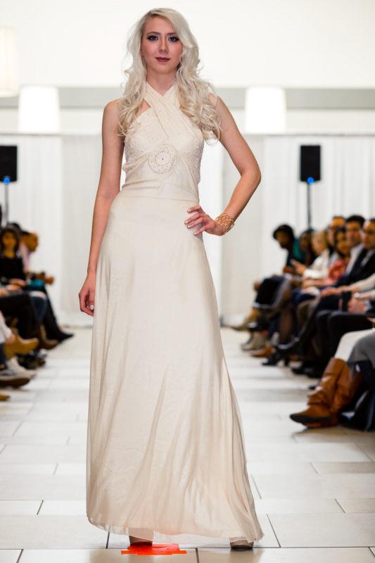 Ivory Prom Bridesmaid Long Designer Dress Boutique