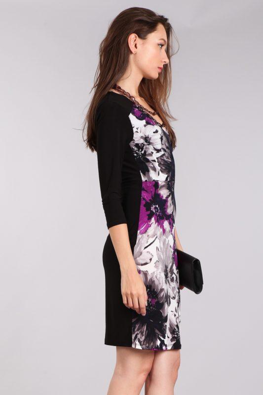 Black Floral Cocktail Dress Designer Boutique Bellevue Seattle
