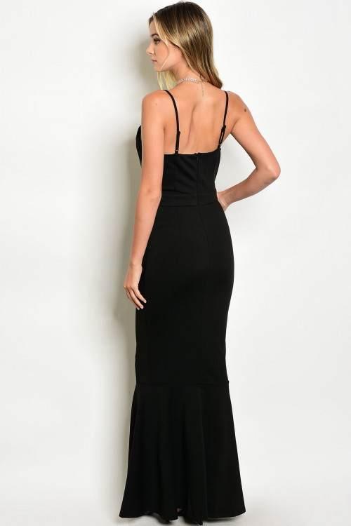 designer fashion boutique blacl long dress