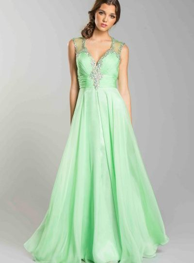 Green Ball Gown Designer Long Dress Seattle Bellevue