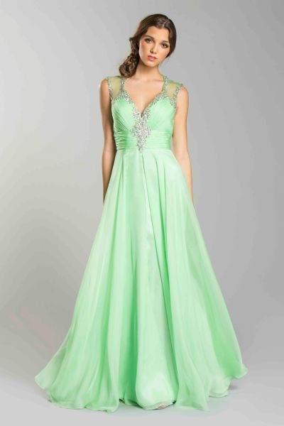 Green Ball Gown Designer Long Dress Seattle Bellevue