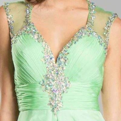 Green Ball Gown Designer Long Dress Seattle Bellevue Shop