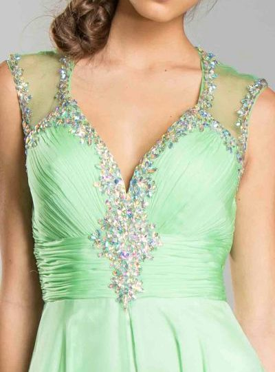 Green Ball Gown Designer Long Dress Seattle Bellevue Shop