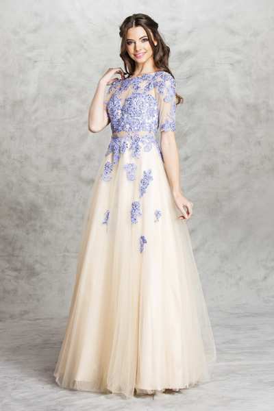 Coral Ivory Champagne Weddig Bridal Prom Princess Gown Dress Bellevue Boutique Designer Seattle