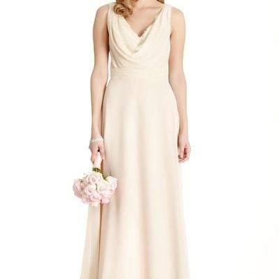 Champagne Wedding Dress Bridesmaid