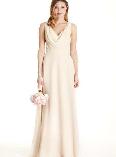 Champagne Wedding Dress Bridesmaid