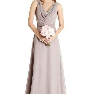 Grey Wedding Dress Bridesmaid Prom