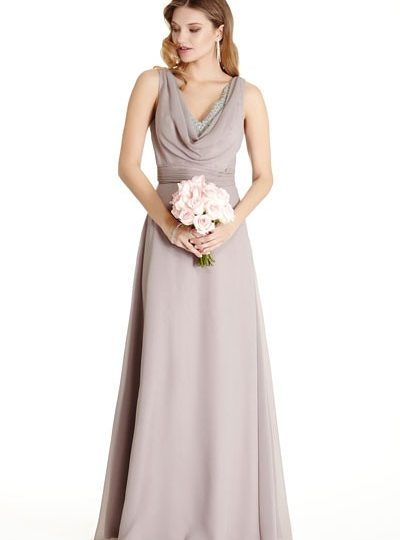 Grey Wedding Dress Bridesmaid Prom