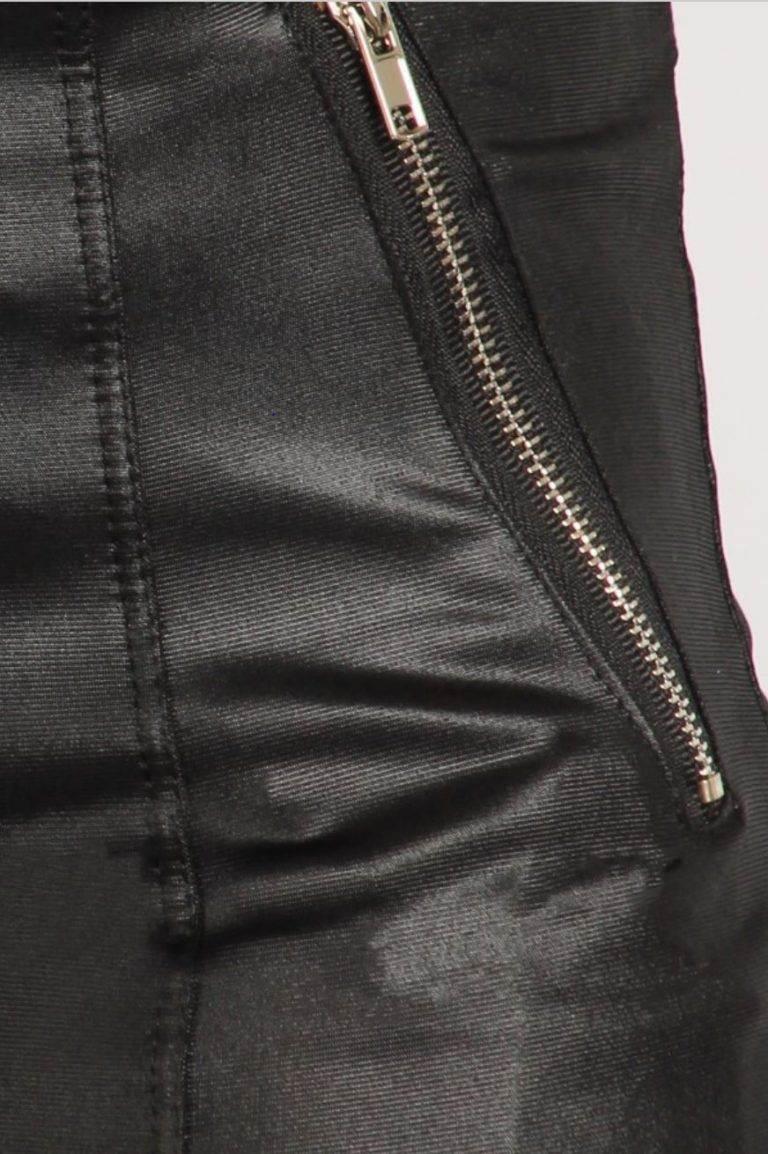 BELLEVUE Designer boutique black leggings fauxleather pants