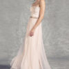 Peach Blush Pink Prom Long Designer Dress