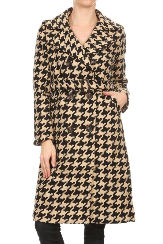 Designer Fashion Boutique Seattle Bellevue Houndstooth Trenchcoat