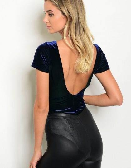 navy velvet bodysuit top bellevue seattle designer boutiques