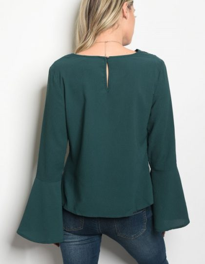 eal party bell sleeve top bellevue designer boutiques