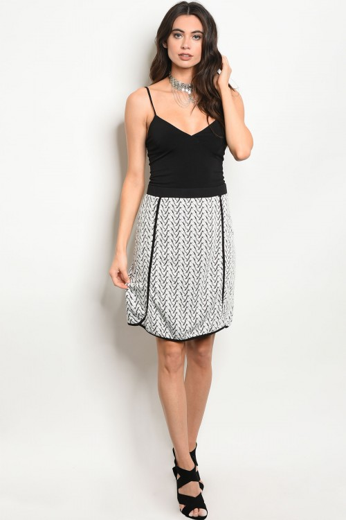 black white knit designer boutique bellevue seattle skirt
