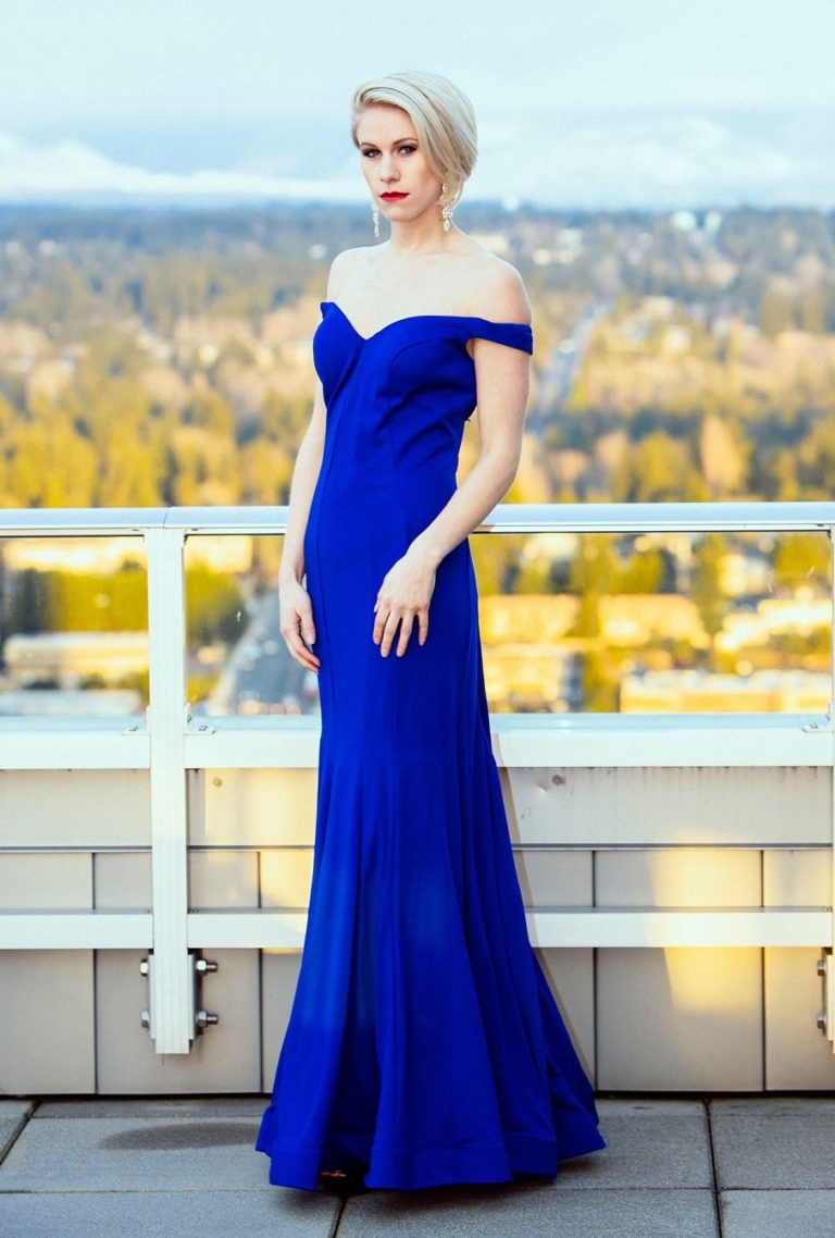 f8e99b2cab77 royal blue off shoulder designer long dress prom bridesmaid red carpet  custom