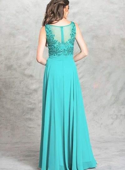 Jade Teal beaded long prom designer dress bridesmaid bellevue boutique (1)