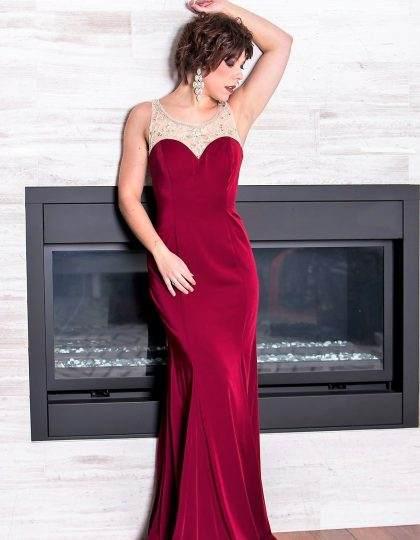 designer dress burgundy prom bridesmaid pageant beaded bellevue seattle boutique