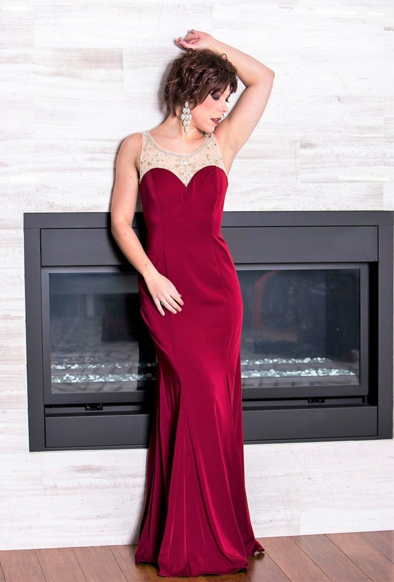 designer dress burgundy prom bridesmaid pageant beaded bellevue seattle boutique