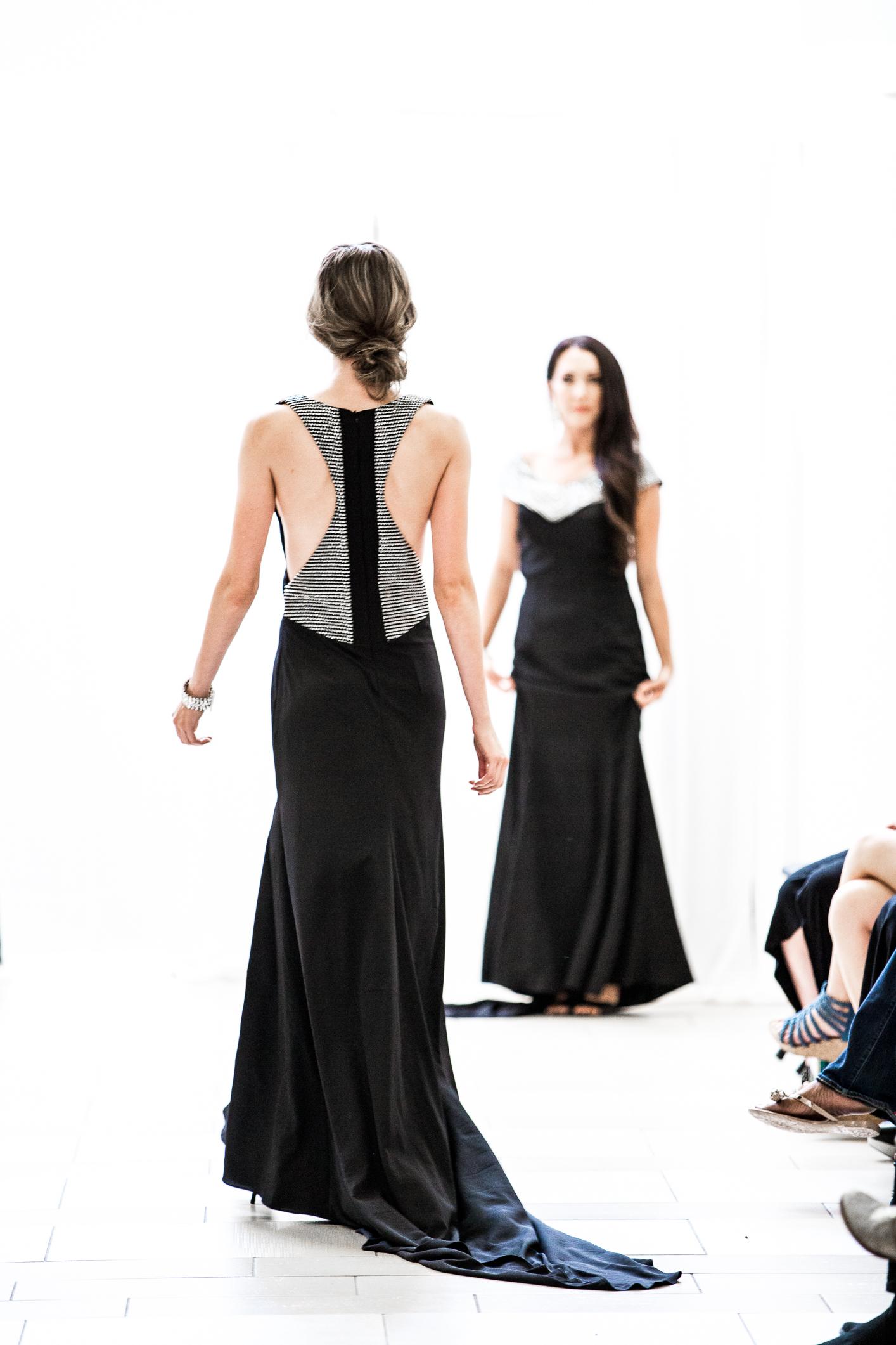 Buy Designer Back Detail Tiara Silver Long Dress For Women Online ...
