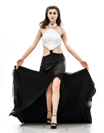 v band sexy black silver long slit custom dress bellevue seattle fashion