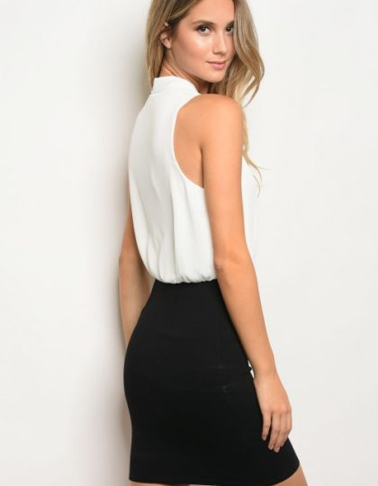 black white cocktail dress2