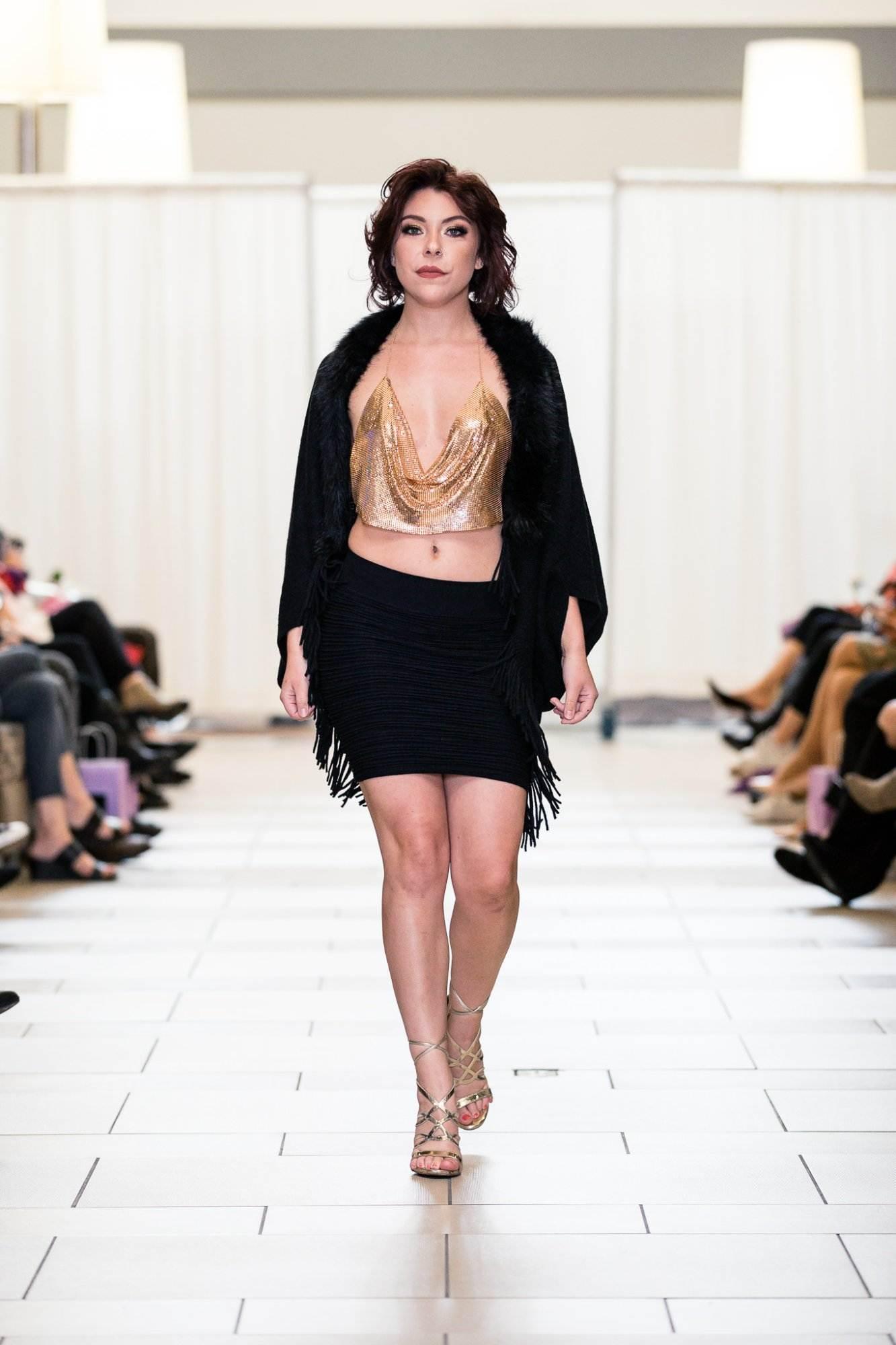 METALLIC Designer top shop bellevue boutique formal dress