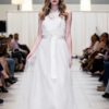 alfred angelo chiffon floral bodice
