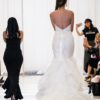 alfred angelo open sequined mermaid BACK