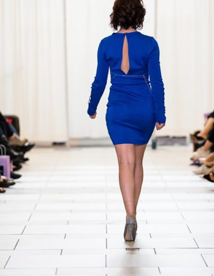 blue bodycon back