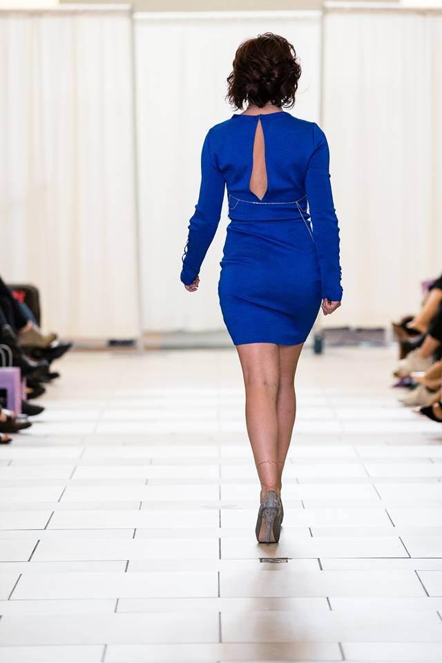 blue bodycon back