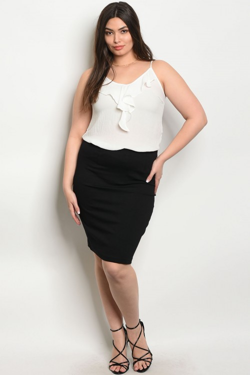classy pencil skirt front