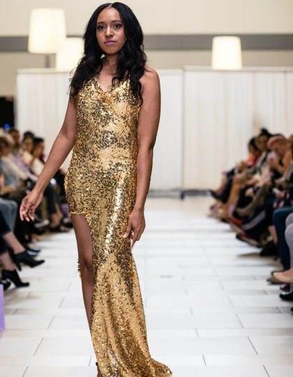 gold slit sequin front