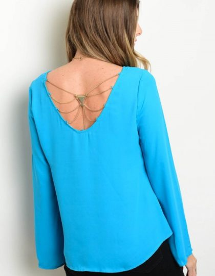 light blue top back