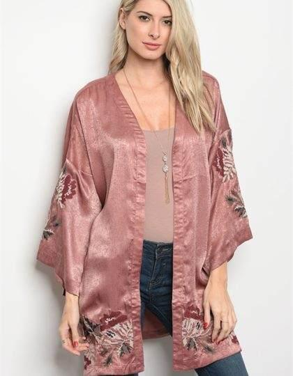 mauve kimono