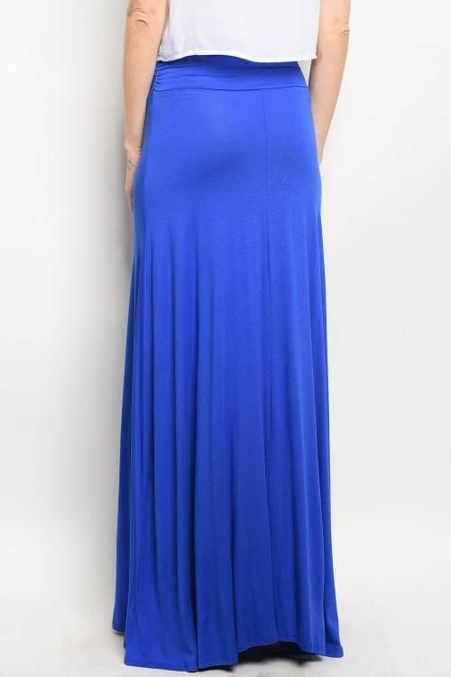 royal blue long skirt back