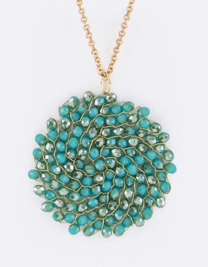 A-beaded chain teal(3)