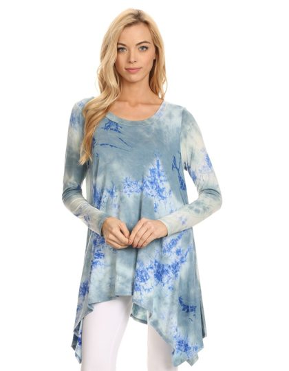designer boutique cooton tie dye tunic top E_11