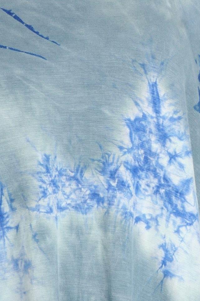 blue grey toe dye tunic top