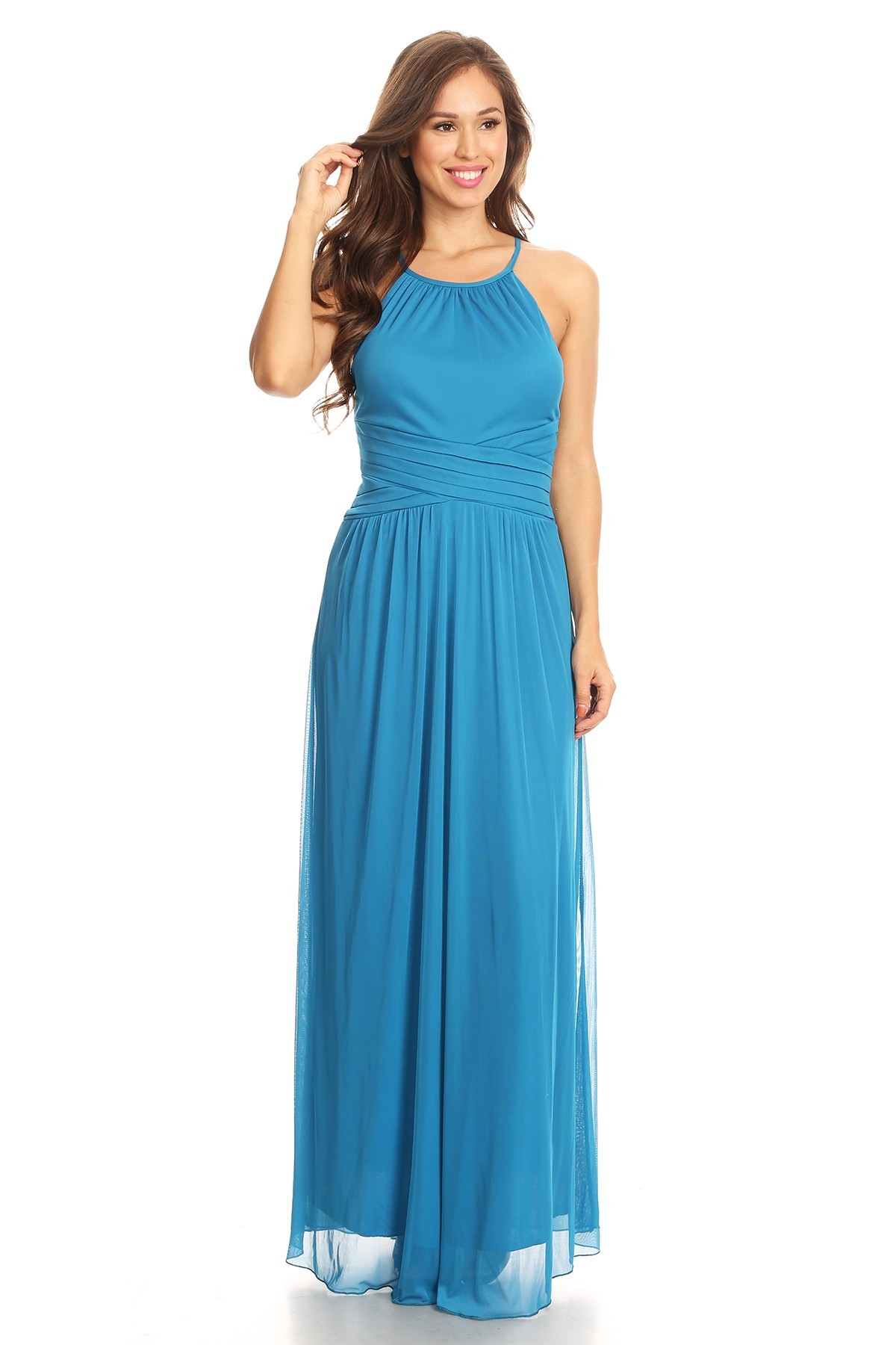 Buy Designer Fuschia Halter Gown For Women Online - Kahini Fashion