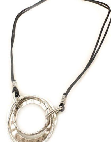 antique silver modern necklace