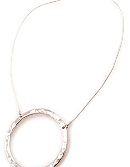 modern silver ring necklace