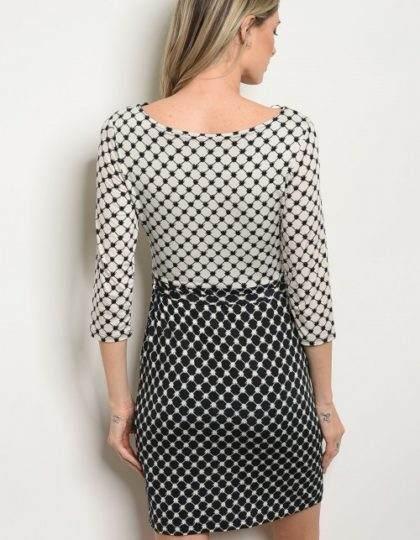 off white black dress B
