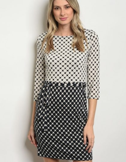 off white black dress F