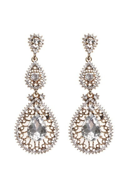 queen drop earring G(16)