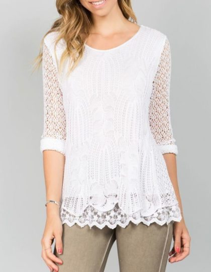 Blush Crochet Top F