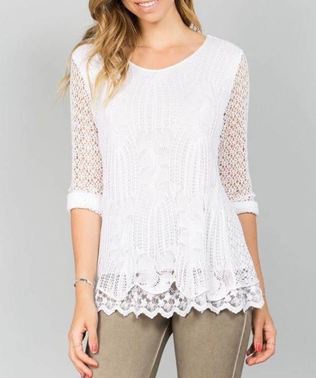 Blush Crochet Top F