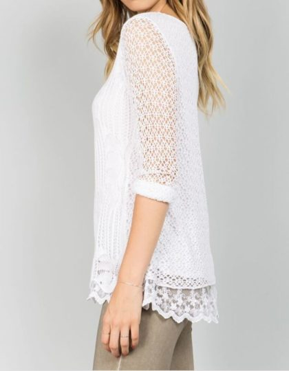 Blush Crochet Top S