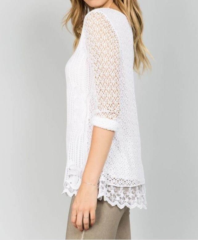Blush Crochet Top S