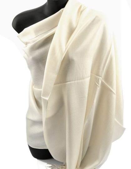pashmina scarf Ivory